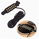 #10: Luvay Guitar Pickup Acoustic Electric Transducer for Acoustic Guitar, Cable Length 10' (Gold)