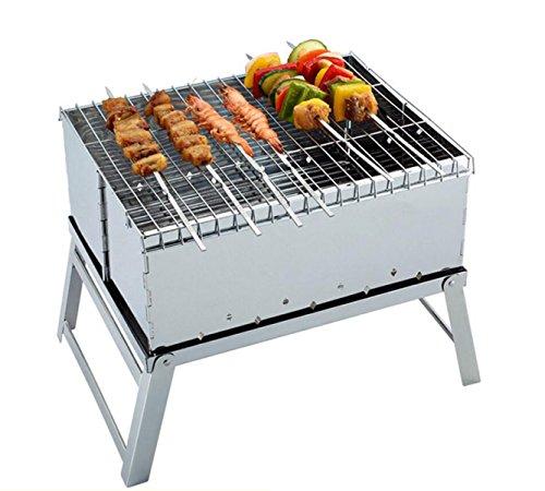 Acier Inoxydable Mini Pliant Barbecue à Charbon De Barbecue Grill Boîte De Cadre Pour Envoyer Des Sacs Oxford