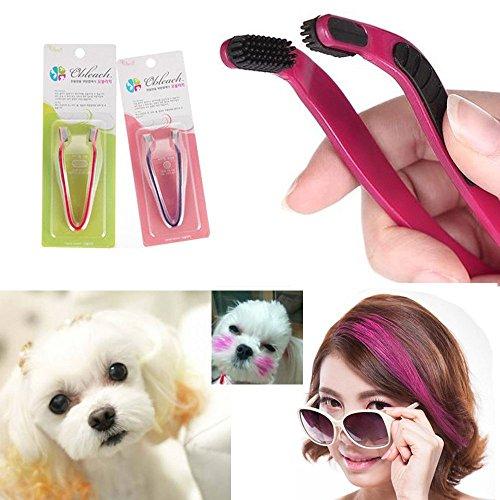 Videoleuchte Dog Hair Coloring Tool Hair Bleach Comb Hair Dye Pet Hair Highlighting D.I.Y. Hair Dye Brush Hair Styling
