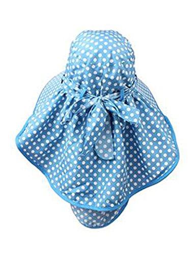 Chapeau de soleil Été féminin Grandes corniches chapeau de soleil Couvrez le visage Anti-UV Protéger le cou Pliable Crème solaire Plage Cap ( Couleur : 3 ) 2
