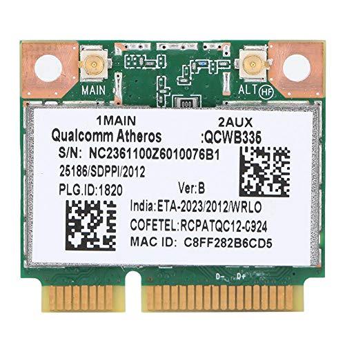 ASHATA-Netzwerkkarte, für Qualcomm Atheros AR9565 QCWB335 150M Mini-PCI-E-Bluetooth-Netzwerkkarte Universal, 2,4-G-Bluetooth-Netzwerkkarte für HP/Dell/ACER usw.