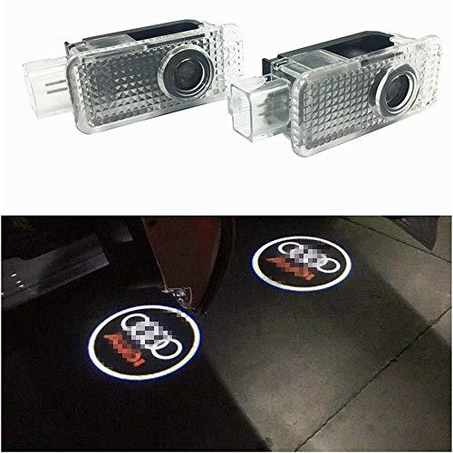 Willkommens Licht,2 Paar LED-Höflichkeits-Lichter Einfache Installation Autotür Laser Projektor Logo Geist Schatten beleuchtet