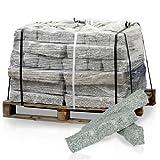 PALIGO Granitpalisade Granit Board Mauer Kante Säule Palisade Pfosten Stele Stein Natur Steine Grau 50 x 10 x 10cm 80 Stück / 1 Palette Galamio