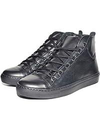 Sneakers Uomo Alta Stringata Nera Pelle Made in Italy Men Shoes Scarpe e63b8f9fdea