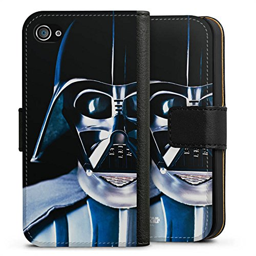 Apple iPhone 8 Hülle Case Handyhülle Star Wars Merchandise Fanartikel Lord Vader Sideflip Tasche schwarz