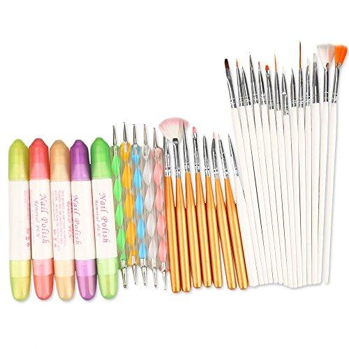Nagel-Werkzeuge - TOOGOO(R) Werkzeug Set fuer Nagelkunst (32-er Set)