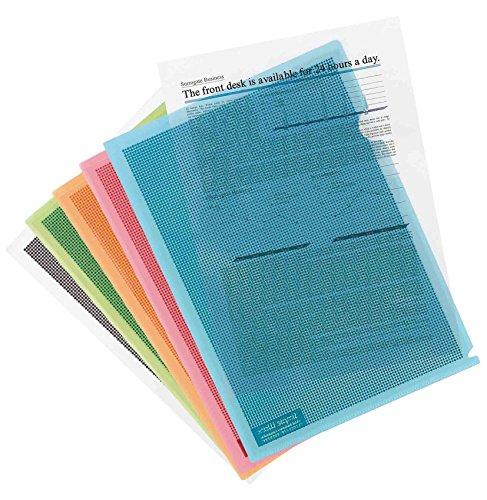 Plus Japan 89896 Custodia Protezione contro gli Sguardi, A4, Confezione da 5 Pezzi, Multicolore
