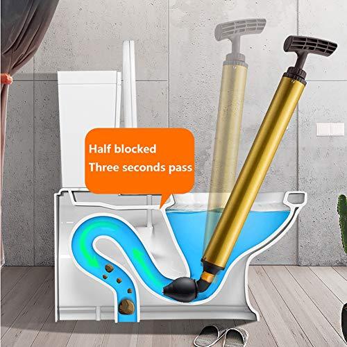 YYBFG WC-Kolben, WC-Bagger durch das WC-Artefakt zu Hause Küche WC-Rohr Maschine blockiert Kanal Hochdruckgas