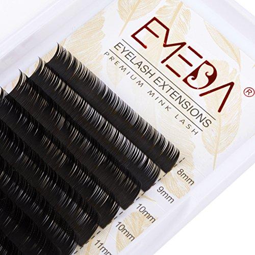 EMEDA Top-Qualität Wimpernverlängerung C Curl Wimpernverlängerung Einzelne Wimpern Streifen .05 Dicke Mix Länge Wimpern 1 Fach Falsche Wimpern für die Schönheit (C 0.20 MIX) -