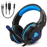 gintenco Gaming Headset Xbox One PS4Headsets blau blau