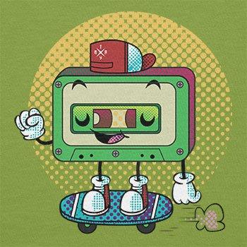 Texlab–Cool Cassette–sacchetto di stoffa Verde chiaro