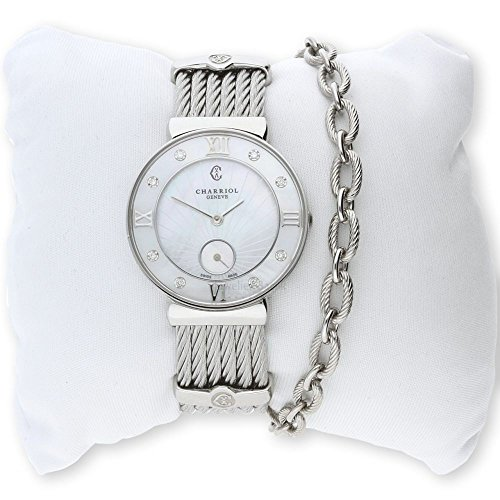 Charriol Women's Watch ST30SD. 560.008St. Tropez Stainless Steel with Diamonds