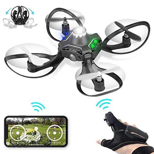 Ceepko Drohne Für Kinder Und Erwachsene, Gestensteuerung, Die Tragbare Mini-Quadrocopter-Drohne Mit Kamera HD RC 2,4 GHz WiFi-Hubschrauber Mit Fernbedienung, Gestenrolle (360 Grad) Erkennt -