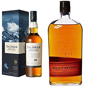 Bundle: Talisker 10 Year Old Single Malt Scotch Whisky 70cl and Bulleit Bourbon Frontier Whiskey 70cl