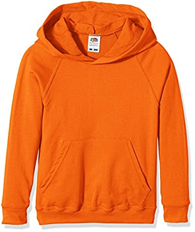 Fruit Of The Loom Boy's SS056B Long Sleeve Hoodie, Orange, 12-13 Years (Manufacturer Size:34)