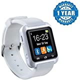 Drumstone U8 Bluetooth Smart Watch With Camera for Android/iOS Devices (White)