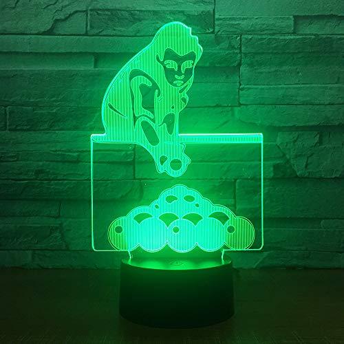 WangZJ Billard Spiel 3d Illusion Lampe/Weihnachtsgeschenk/Nachtlicht/Neben Tischlampe / 7 Farben/Dekoration Lampen/Geburtstagsgeschenk/Touch-Fernbedienung -