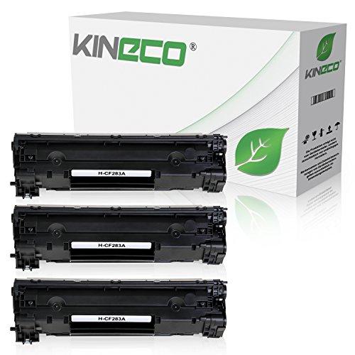 3 Kineco Toner kompatibel zu HP CF283A 83A LaserJet Pro MFP M125nw, M126nw, M127fw, M128fp - Schwarz je 1.500 Seiten (Hp Cf283a)
