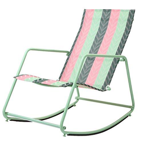 YLLXX Chaise Berçante Nordique Adulte Déjeuner Intérieur Pause Moderne Minimaliste Paresseux Inclinable Balcon Fauteuil Facile Salon Sieste Rocking Chair (55 * 80 * 78 Cm)