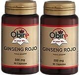 Ginseng Rojo (Panax ginseng Meyer) 500 mg 90 capsulas (Pack 2 u.)