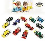 DMbaby Spielzeug für 4-5 Jahre alten Jungen, ziehen zurück Fahrzeuge 12-Auto Geschenke für 3-6 Jahre alten Jungen Spielzeug für Kleinkinder DMPULL12RACE