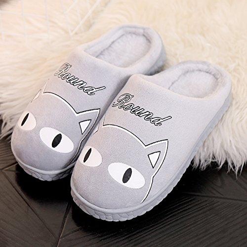 cotone il il uomini inverno con pantofole DogHaccd incantevole e autunno pantofole soggiorno femmina coppie Grigio4 salotto lussuosi In tuo inverno pacchetto spessa pantofole per le 8qaXY