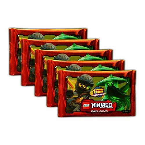 Blue Ocean - LEGO Ninjago Serie 2 - 5 Booster Packungen Sammelkarten 25 Karten - Deutsche Ausgabe