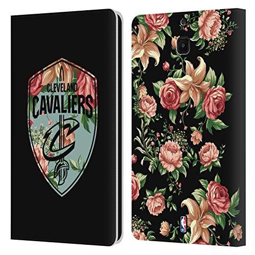 Head Case Designs Offizielle NBA Blumig 2019/20 Cleveland Cavaliers Leder Brieftaschen Huelle kompatibel mit Samsung Galaxy Tab A 8.0 2018 -