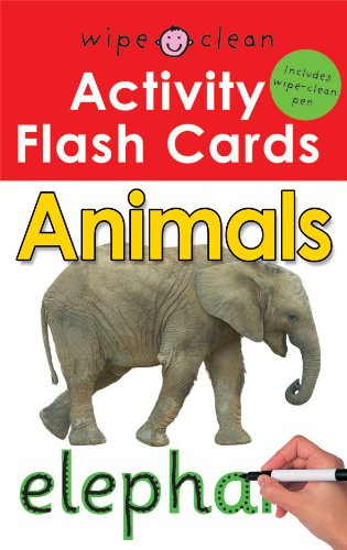 Wipe Clean Activity Flash Cards: Animals - Priddy