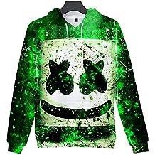 e46ac6954517 Hzl Unisex DJ Marshmello Fans Felpe con Cappuccio Suono Elettrico EDM Cool  Hip Pop Pullover per