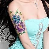 TAFLY Schmetterling Große Pfingstrose Blume Körper Kunst Temporären Tattoo Aufkleber 5 Blätter