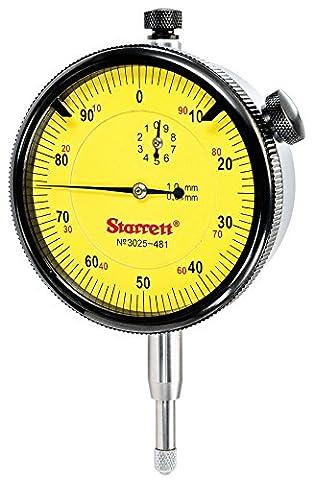 Starrett 3025–481Cadran Indicateur Gamme: 10mm, cadran lecture: 0–100