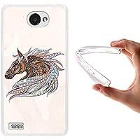 WoowCase Funda LG X150 Bello 2, [LG X150 Bello 2 ] Funda Silicona Gel Flexible Ethnic Caballo, Carcasa Case TPU Silicona - Transparente