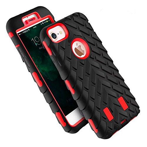 iPhone 6 Coque Vanki® 2 en 1 Dual Layer Hybride PC Cadre + Silicone Back Housse Étui Cover pour Apple iPhone 6 Plus Case Noir