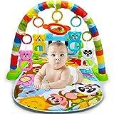 AimdonR Baby Fitness Matte, Baby Fitness Spielzeug, Klavierspielzeug, Eltern Kind Erfahrung, Baby Kognition, Farberkennung, Tiererkennung, Neugeborene 6-36 Monate