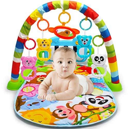 Daxoon Kick- und Spielmatte, für Neugeborene, Spielzeug mit Klavier für Babys und Neugeborene, Aktivität, Fitnessstudio für Babys