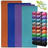 Yoga-Matte in vielen verschiedenen Größen und Farben rutschfest phthalatfrei für Gymnastik Turnen Pilates extra dick, Farbe:Fresh Turquoise;Maße:180 x 60 x 1.5 cm