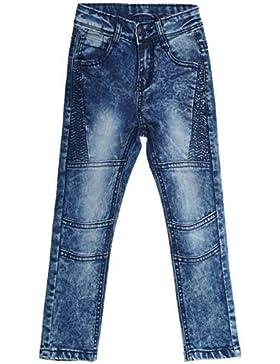 Mädchen Kinder Jeans Hose Röhre Straight Fit Skinny Sommer Stretch Bootcut 20350