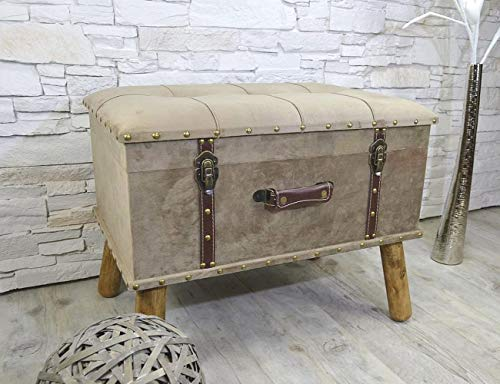 Livitat® Hocker Polsterhocker Suitcase Pouf Truhe Staufach Truhenbank Sitzbank Ottomane LV2085