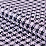 Hans-Textil-Shop Stoff Meterware Vichy Karo 5x5 mm Schwarz
