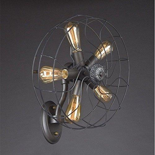 HEYUN& Lámpara de Pared Retro de los Ventiladores industriales del Vintage del...