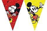 2,3m Wimpelkette * MICKEY MOUSE - SUPER COOL * als Deko für Kindergeburtstag oder Mottoparty // Kinder Geburtstag Motto Party Micky Maus Flag Banner Girlande