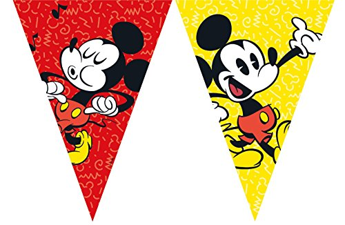 2,3m Wimpelkette * MICKEY MOUSE - SUPER COOL * als Deko für Kindergeburtstag oder Mottoparty // Kinder Geburtstag Motto Party Micky Maus Flag Banner Girlande (Banner Party Mickey-mouse Geburtstag)