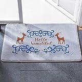 RUG ZI LING Shop- Wasserabsorbierende Bodenmatte Schlafzimmer Fuß Pad Küche WC WC-Matte Wache Badezimmer Anti-Rutsch-Matte In den Eingang Hall Carpet (Farbe : Gray, größe : 50X80cm)