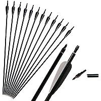 "Huntingdoor 31"" Archery Recurve and Compound Bow Aluminium Arrows 12pcs"