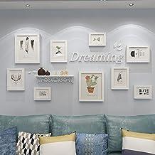 Decoración, familia Marco pared marco de fotos collage – Marco de fotos múltiple conjuntos de