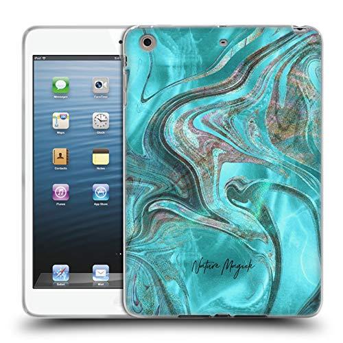 fizielle Nature Magick Blaugruen Meerjungfrau Rosa Gold Marmor Soft Gel Huelle kompatibel mit iPad Mini 1 / Mini 2 / Mini 3 ()