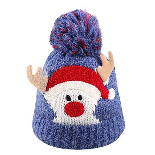 MIRRAY Weihnachten Baby Hüte Jungen Mädchen Beanie Cap Cotton Gestrickte Ball Warm Strickmützen