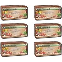 Zimmerpflanzen-/ Pflanzen- Kokoserde Sixpack (6 x 600 g) leichte torffreie Erde / Blumenerde / Anzuchterde / Aussaaterde für Beet und Blumenkasten (für ca. 50 l) - ungedüngt