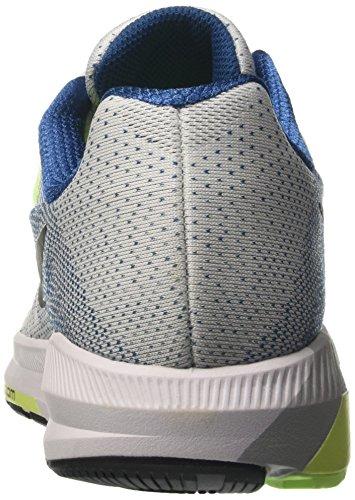 Nike Air Zoom Structure 20, Scarpe da Corsa Uomo Bianco (White/Black/Industrial Blue/Ghost Green)